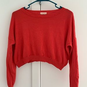 Ambiance cropped red sweater